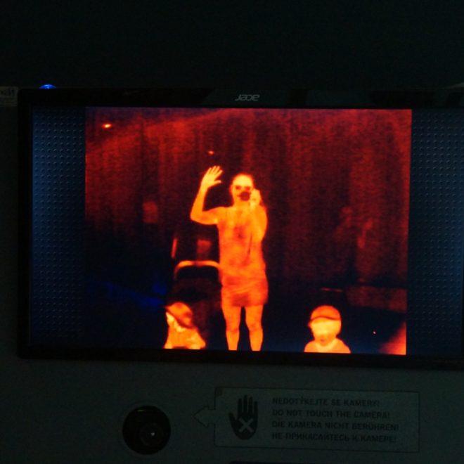 termokamera v zoo u tygrů