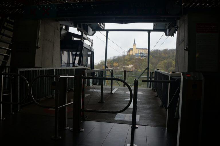 Lanovkou na Větruši v Ústí nad Labem