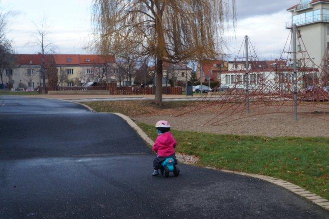 Okruh pro kola, koloběžky a odrážedla na Zahraďáku